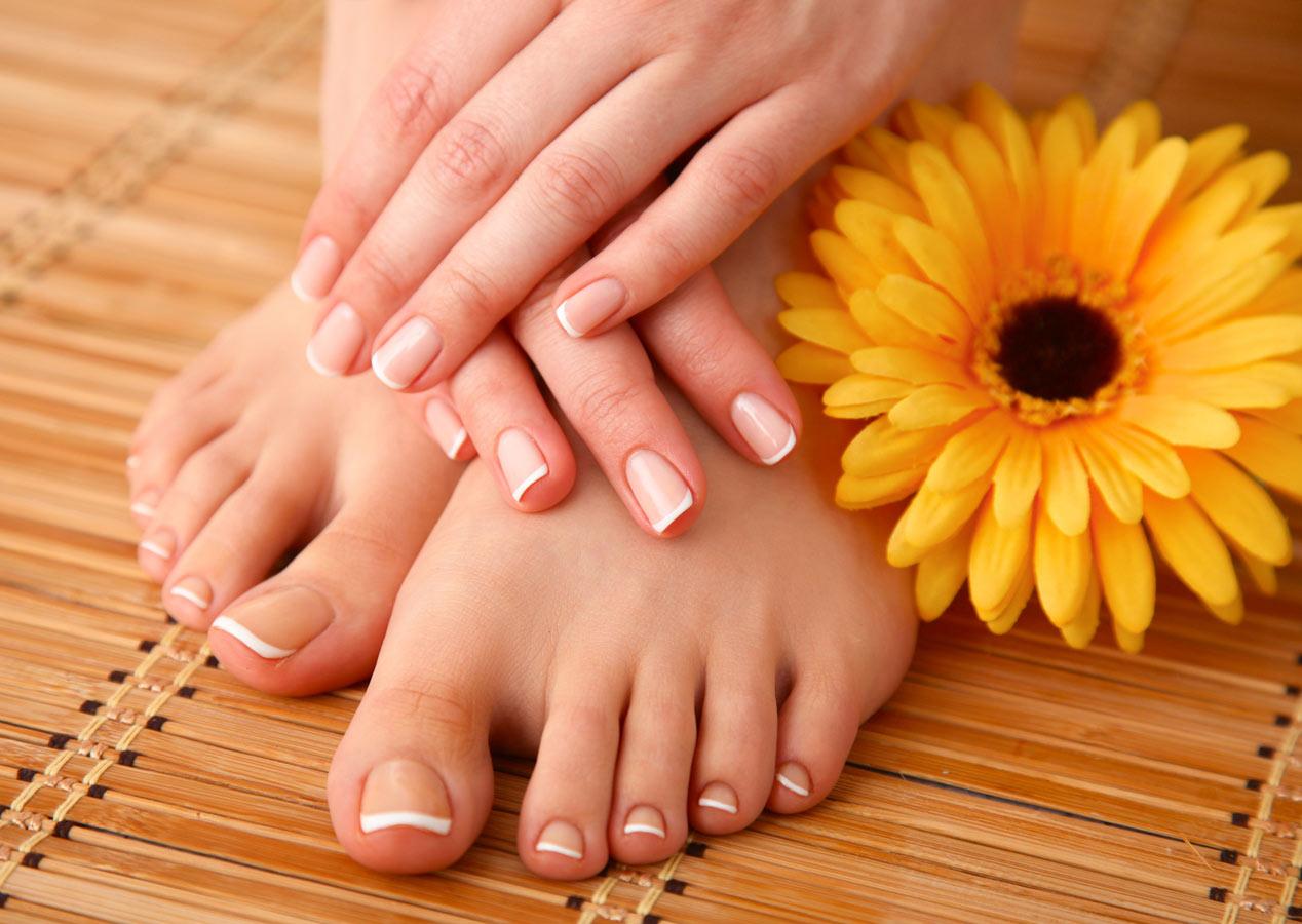 Kosmetischen Fußpflege