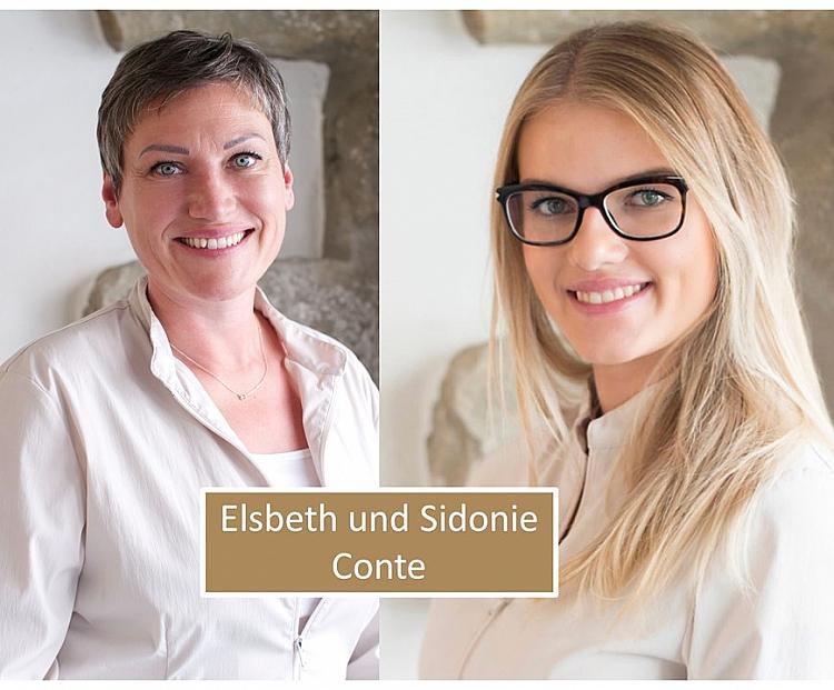 Elsbeth und Sidonie Conte mit Rand