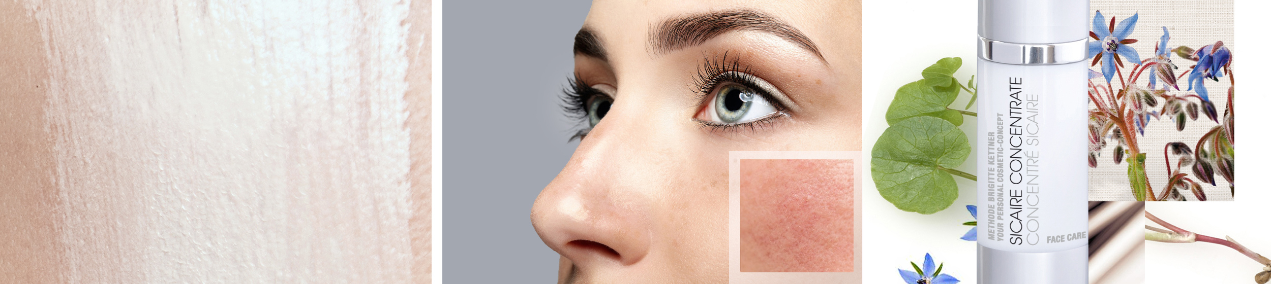 Sensitive skin with a tendency to redness