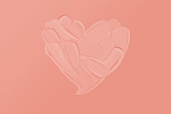 Herz aus Creme
